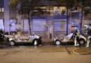 Deux Autolib incendiées en marge d'une manifestation contre la loi Travail, le 14 juin 2016 à Paris.