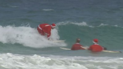 Pere Noel Surf Sydney australie