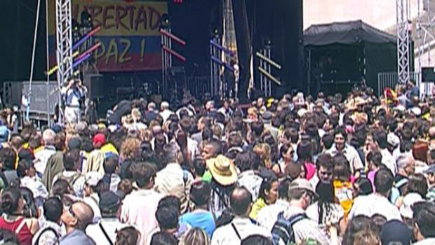 Concert en faveur des otages en Colombie au Trocadéro