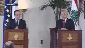Conférence de presse de François Hollande à Beyrouth (4 novembre 2012)
