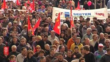 La manifestation à Lyon dans le cadre de la grande journée de mobilisation du 19 mars.