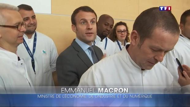 A Chartres, Macron a du mal à jouer collectif