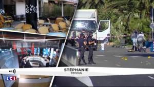 """Attentat de Nice : """"On s'est caché derrière un arbre"""""""