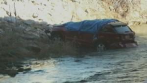 La voiture dans laquelle une petite fille de 18 mois a survécu pendant 12h, dans l'Utah.