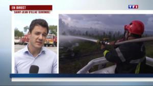 Le 13 heures du 25 juillet 2015 : Incendie en Gironde : un mégot de cigarette à l'origine du sinistre ? - 223