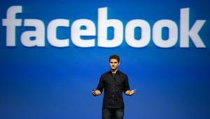 Etats-Unis, San Francisco. Dustin Moskovitz, co-fondateur du réseau social Facebook, lancé en février 2004, lors de son keynote speech pour CTIA Wireless IT & Entertainment en 2007