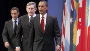 Sommet du G20 Barack Obama Gordon Brown et Nicolas Sarkozy