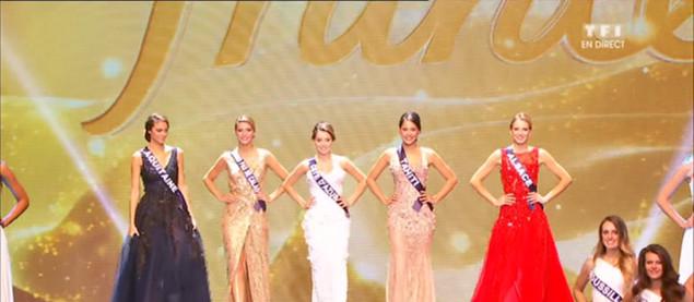 Les 5 Miss finalistes