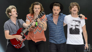 Les One Direction en concert à Wembley en Angleterre en juin 2015