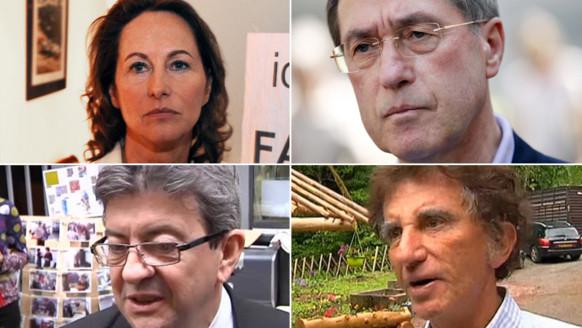 Ségolène Royal, Claude Guéant, Jack Lang et Jean-Luc Mélenchon, candidats malheureux aux législatives 2012/Image d'archives