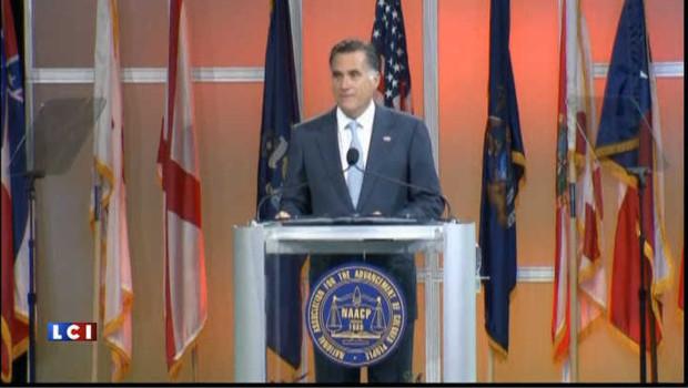 Elections USA 2012 : Romney hué devant une organisation noire (vidéo)