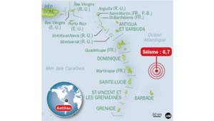Infographie : Séisme aux Caraïbes
