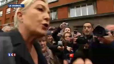 """Marine Le Pen à Calais : """"Donnons nous les moyens de faire respecter la loi"""""""