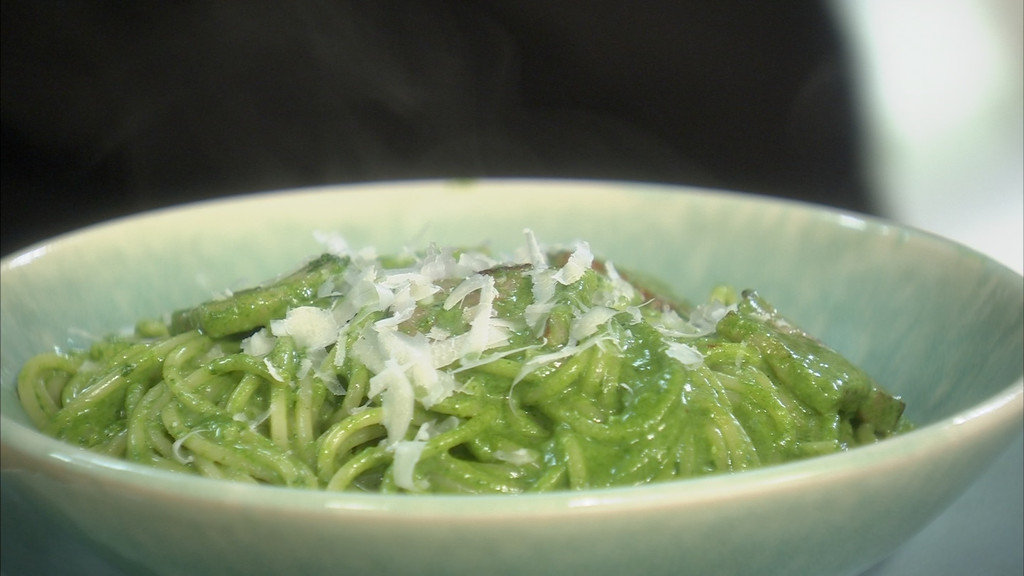 Spaghettis carbonara la cr me d 39 pinards petits plats - Recette cuisine tf1 petit plat en equilibre ...