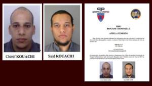 L'appel à témoin diffusé par la préfecture de police de Paris le 8 janvier au lendemain de l'attentat contre Charlie Hebdo