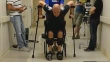 """Paralysé depuis 2010, il """"remarche"""" pour la première fois."""