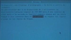 Un logiciel de correction voit le jour en 1985.