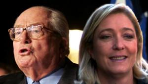 Jean-Marie Le Pen et sa fille Marine Le Pen