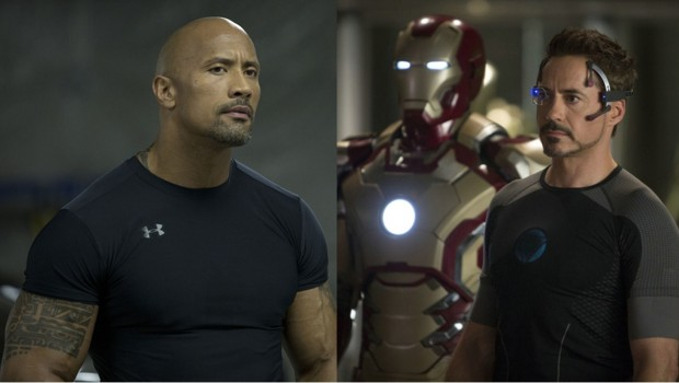 Dwayne Johnson, dans Fast and Furious 6, et Robert Downey Jr., dans Iron Man 3
