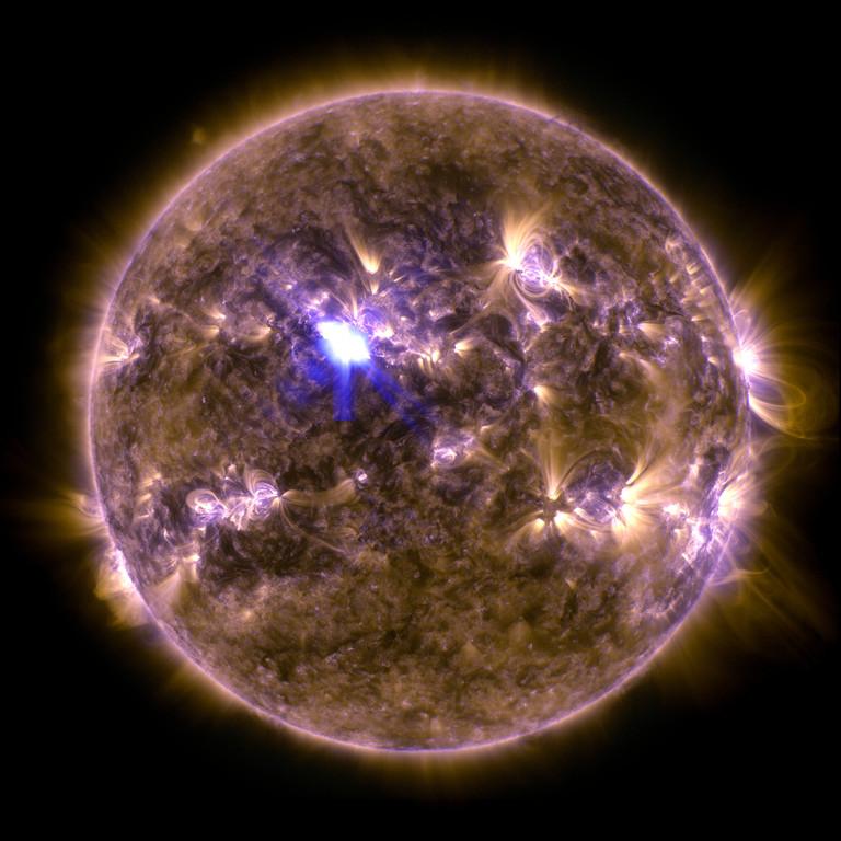 La Nasa a pris en photo une éruption solaire le 11 avril, la plus forte depuis le début de l'année 2013.