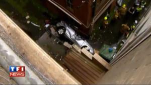 Une voiture chute de 6 étages, sa conductrice survit