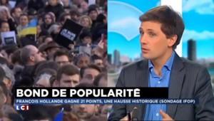 """""""Hollande connaît l'état de grâce qu'il n'a pas eu après son élection"""" dit l'éditorialiste Chapuis"""