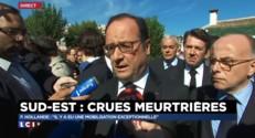 """Intempéries dans les Alpes-Maritimes : """"Je vois bien la colère qui monte"""", déclare Hollande"""