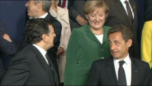 José Manuel Barroso et Nicolas Sarkozy, à Bruxelles, le 16 septembre 2010