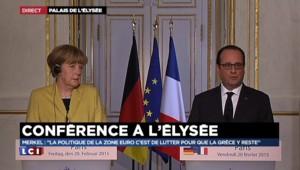 """Hollande souligne """"l'exceptionnelle qualité de la relation"""" de la France et l'Allemagne"""