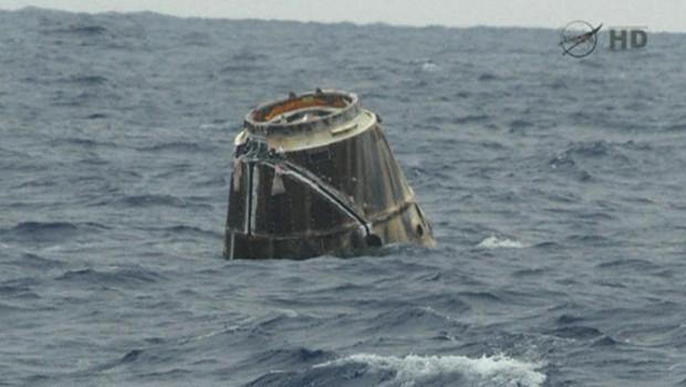 La capsule Dragon de retour sur Terre, le 1 juin 2012.