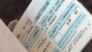 TF1/LCI Billet papier avion transport aéroport