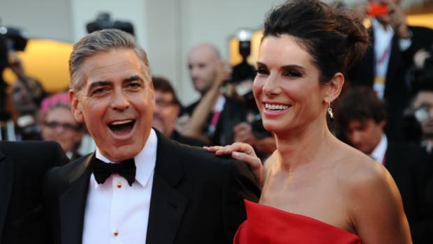 George Clooney et Sandra Bullock à Venise le 28 août 2013