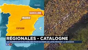 """Indépendance de la Catalogne : une marée """"rouge et orange"""" envahit Barcelone"""