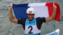 Tony Estanguet dcroche son 3e titre olympique en cano, lors des JO de Londres