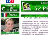 TF1/LCI blogs mondial capture blog france 28 juin
