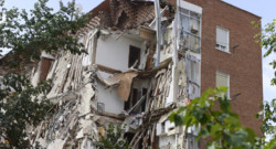 L'immeuble madrilène après son effondrement