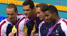 Le 13 heures du 19 août 2014 : Les nageurs fran�s m�ill�d'or en relais 4x100 m�es - 1137.906
