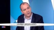 """Article 2 de la loi Travail : """"la CFDT est prête à relever ce défi"""", dit Laurent Berger"""