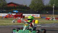 Le vice-champion du monde de karting (catégorie KF junior) Mick Junior.