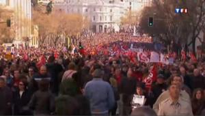 Les Espagnols manifestent, le 19 février 2012, contre la réforme du marché du travail