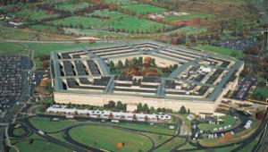 Vue aérienne sur le Pentagone, à Arlington (ville située juste à côté de Washington D.C.)