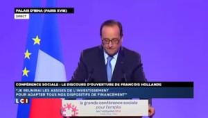 """Conférence sociale : """"L'austérité a atteint ses limites"""" en Europe selon François Hollande"""