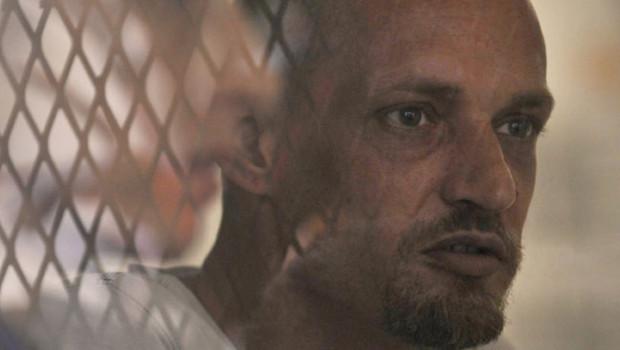 Michaël Blanc, emprisonné depuis 13 ans en Indonésie après avoir été arrêté avec 3,8 kg de hashish dissimulés dans des bouteilles de plongée. Il clame son innocence (photo d'avril 2011)