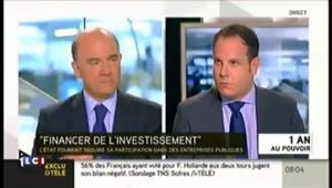"""Moscovici défend une """"gestion fine"""" du capital de l'Etat"""
