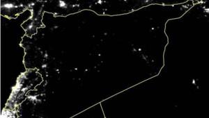 Syrie : cliché satellite montrant les lumières nocturnes en 2015
