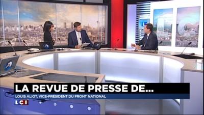 Louis Aliot, vice-président du Front National fait sa revue de presse