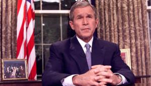 11 septembre 2001, 20h30 : George W. Bush prononce un discours depuis la Maison-Blanche après les attaques contre les Etats-Unis