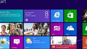 L'interface du nouveau système d'exploitation Windows 8 de Microsoft.