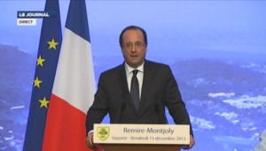 Discours de François Hollande en Guyane.