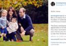 La carte de voeux de Kate Middleton et du Prince William accompagnés du Prince George et de la Princesse Charlotte.